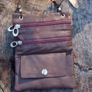 Brown Leather Cross Body 5/25